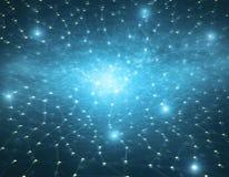 Texture bleue de réseau en étoile Photos libres de droits