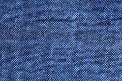 Texture bleue de tissu Photos libres de droits