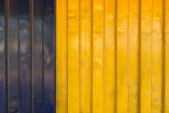 Texture bleue et jaune de récipient de cargo Image stock