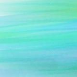 Texture bleue et verte abstraite d'aquarelle Photos stock