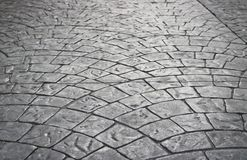 Texture : blocs en pierre doux sur le trottoir photo stock