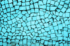 Texture of blue asymmetric tiles Royalty Free Stock Photography