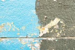 Texture of blue-black old painted wall stock photography