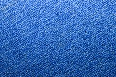 Texture of blue carpet that lies royalty free stock photo