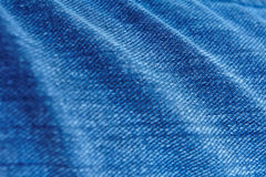 Texture of blue denim  Stock Photo