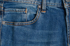 Texture of Blue Denim Jeans Part of Trousers. Stock Photography