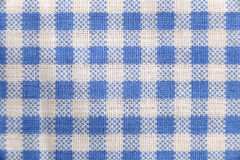 Texture blue fabric of scots pattern. Stock Image