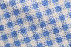 Texture blue fabric of scots pattern. Stock Photo