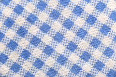 Texture blue fabric of scots pattern. Royalty Free Stock Photo