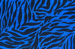 Texture of blue fabric striped zebra Stock Photo