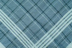 Texture of Blue Gingham Fabric. Royalty Free Stock Photo