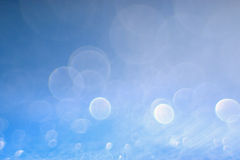 Texture blue glare bokeh Stock Photos