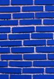 Texture of blue grunge brick wall , Brick walls blue on a white background Royalty Free Stock Photography