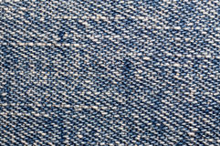 Texture of blue jean. Close up Royalty Free Stock Photo