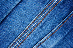 Texture of blue jeans Stock Photography