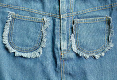 Texture of blue jeans. Fashion Royalty Free Stock Photography