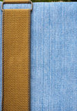Texture blue jeans. Royalty Free Stock Image