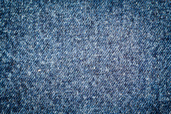 Texture of blue jeans Royalty Free Stock Photos