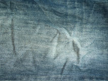 Texture of blue jeans. For background Stock Photography