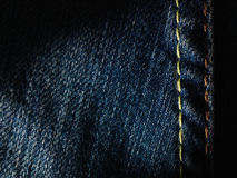 Texture of blue jeans background. Royalty Free Stock Images