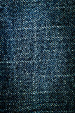 Texture of blue jeans background Stock Images