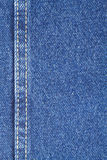 Texture of blue jeans fabric with stitch Royalty Free Stock Photography