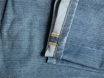 Texture of blue jeans lag. For background Royalty Free Stock Photo