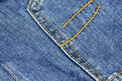 Texture blue jeans Stock Image