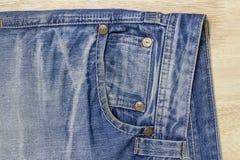 Texture of blue jeans textile Stock Photo