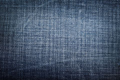 Texture of blue jeans textile close up Royalty Free Stock Photo