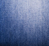 Texture of blue jeans textile close up Stock Photography