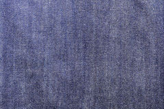 Texture of blue jeans textile close up Royalty Free Stock Image