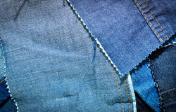 Texture of blue jeans textile Stock Photography