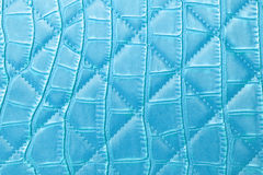 Texture blue leather Stock Photography