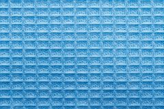 Texture of blue linen kitchen towel close up Stock Photo