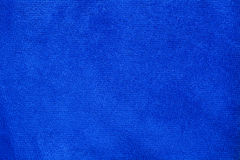 Texture of blue microfiber cloth Stock Images