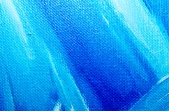 Texture blue oil paint on canvas macro closeup royalty free stock photography