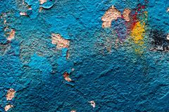 The texture of the blue paint. Royalty Free Stock Images