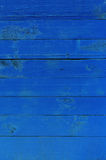Texture of blue painted boards Stock Images