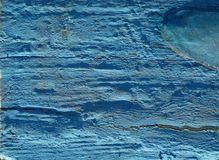 Texture of blue painted wooden surface Stock Photography