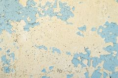 Texture of blue peeling wall. Background. Place for text royalty free stock image