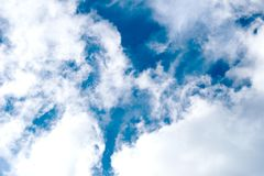 Texture of blue sky,clouds Stock Photography
