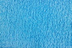 Texture of blue terry cloth closeup. Natural fabric background Stock Photography