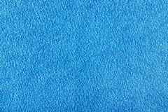 Texture of blue terry cloth closeup. Natural fabric background Stock Image