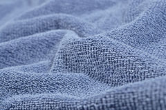 Texture of blue terry towel Stock Photo