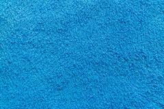 Texture of blue towel Royalty Free Stock Photo