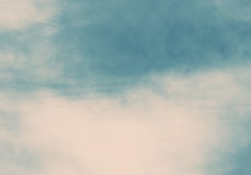Texture of blue and vanilla sky. Sky with creamy clouds at sunset for background usage Stock Photography