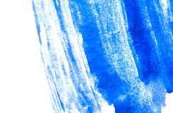 Texture of blue watercolor paint. horizontal watercolour background. Rectangular photo Royalty Free Stock Photography