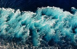 Texture blue wave water Royalty Free Stock Images