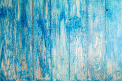 Texture of a blue wooden planks Royalty Free Stock Photography